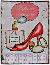 shoe tin wall plaque